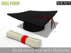 %50SUMMERSALE Full Perm Mesh Graduation Hat with Diploma / Scroll - Builder's Kit