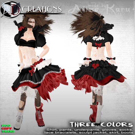 [Aliza Karu] Three colors rag dress 450