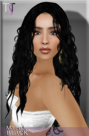 TuTy's MALENA curly hair - Black