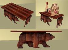 wood bear  coffee table