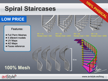 FULL PERM - spiral Staircases -LOW PRICE LINE - 100% Mesh by **aVISTYLe**