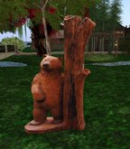 Wood Carved Bear Statue