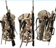 Mochila Combate combat rucksack with weapons attached