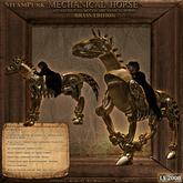 Steampunk Mechanical Brass Horse