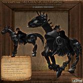 Steampunk Mechanical Carbon Horse
