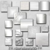 20 SILVER METAL TEXTURES FULL PERMISSION BY CASA DIABOLICA