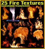 25 FIRE TEXTURES  +  6 ANIMATED FIRE & LAVA TEXTURES / FLAME TEXTURES