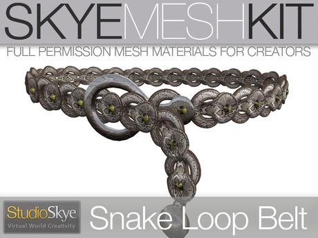 Skye MESH Kit - Full Perms Snakeskin Loop Belt