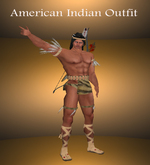 Male American Indian Outfit with arrows boots & feathers