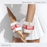 MishuTa -bracelet *creme-red*