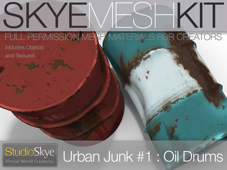 Skye MESH Kit - PROMO PRICE Urban Junk #1 Full Perms Oil Drums