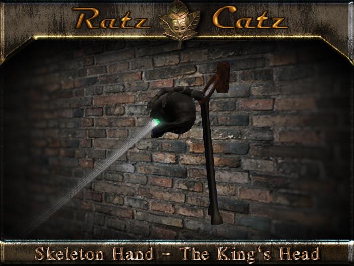 .:[RatzCatz]:. Skeleton Hand - The King's Head