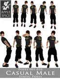 Apple Spice - Casual Male Poses 001-010 FATPACK