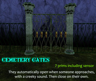 Spooky Cemetery Gates which open on proximity