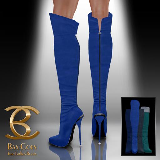 BAX Prestige Boots Blue Suede