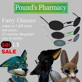<<PP Furry Glasses<< SALE