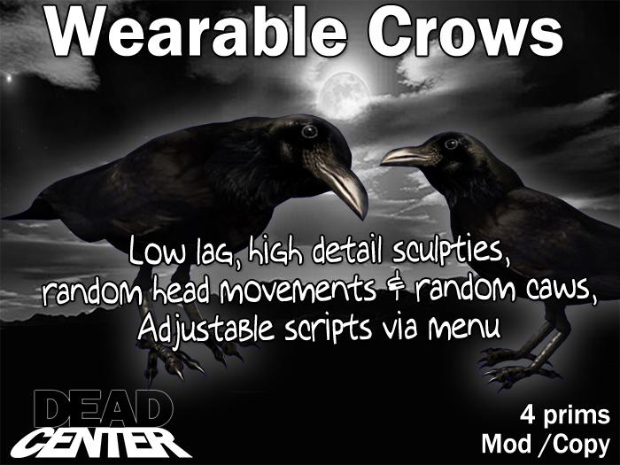 Dead Center: Wearable Pet Crow Raven