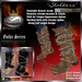 """!Drakke! """"Stalkers"""" Gothic Boots(Brown)   ~ SL Viewer 2 Ready (Alpha Mask Included)"""