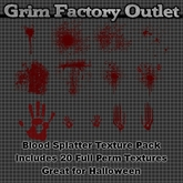 Blood Splatter Texture Pack (BOXED)