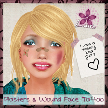 LUAS PLASTERS & WOUND FACE TATTOO