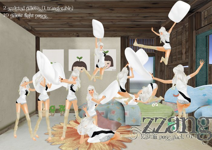 ZZANG - PILLOW FIGHT RAWR!!! Kawaii Poses Pack 14