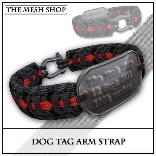 (TMS) Dog Tag Arm Strap