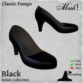 *Perception* Classic Pumps -- Black -- Mesh