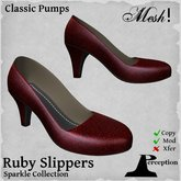 *Perception* Classic Pumps -- Red Sparkle (Ruby Slippers) -- Mesh