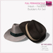 Full Perm Mesh Fedora Hat - Unisex Hat Builder's Kit