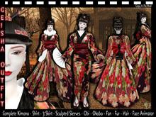Female Geisha Costume - [Geisha Costume] - Kimono - Japanese Clothes - Halloween Costume - Carnival Costume-Mardi Gras