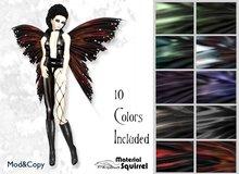 Tattered Dark Fairy Wings - Ten Color Pack Darks - Flexi Scripted Dark Fairy Wings