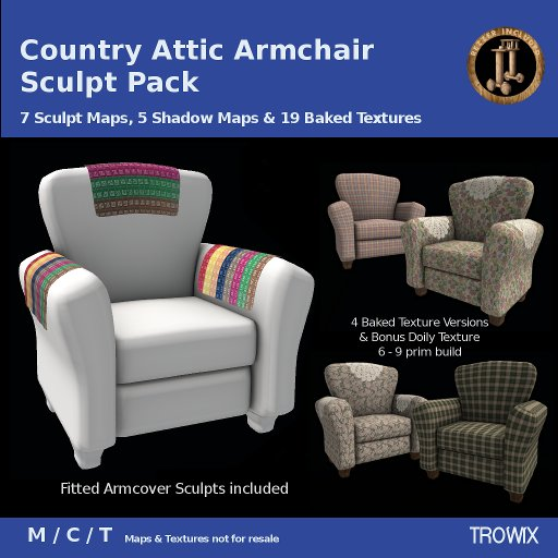 Trowix - Country Attic Armchair / Club Chair