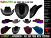 HAT COWBOY HAT COUNTRY HAT MOD 02  / CHAPÉL COUNTRY (FULL PERMS)