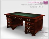 Full Perm Mesh - Classic Boss Office Desk - Mesh Furniture Builder's Kit Set