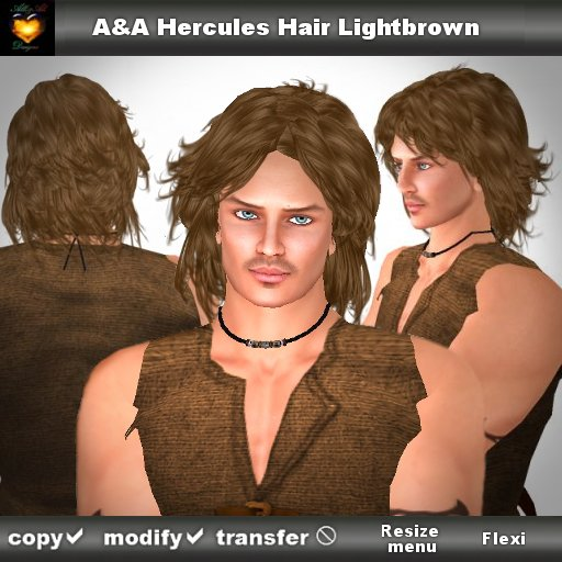 A&A Hercules Hair Lightbrown. Wavy mens hairstyle