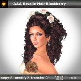 A&A Rosalie Hair Blackberry (curly wedding hairstyle)