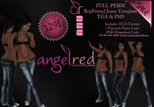 AngelRED - FULL PERM Boyfriend Jeans Template