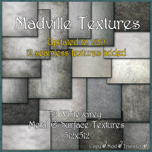 Madville Textures - White Grey Metal & Surface Textures