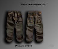 Brown Capri Pants with cuffs