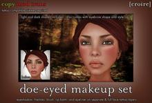 [croire] Doe-eyed Makeup Set (eyeshadow, blush, lip balm, freckles, eyeliner, and more!)