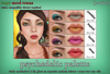 [croire] Psychedelic Palette (four eyeshadow and lip gloss tattoo layers) Funky hippie colurful makeup tattoo layers.