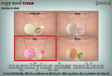 [croire] Magnifying Glass Necklace (Lust) Cute girly hipster whimsical unqiue kitsch chunky big pattern necklace