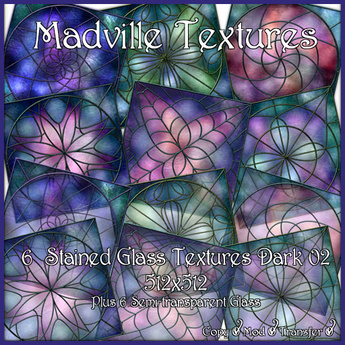 Madville Textures - Stained Glass Textures Dark 02