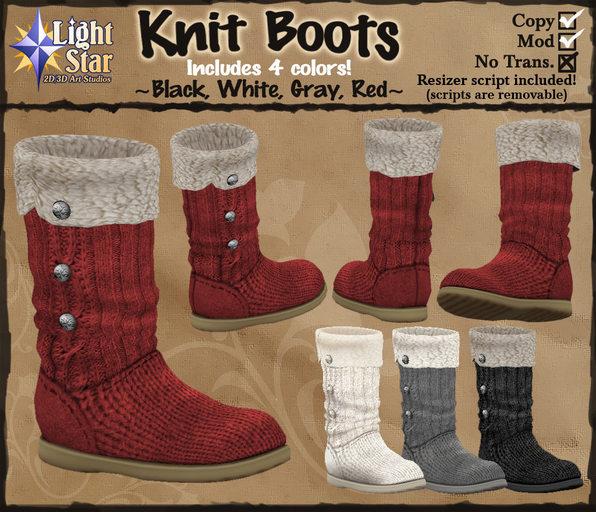 *LightStar - Knit Boots
