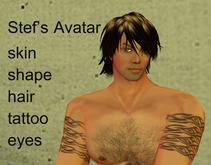 Stef's Starter Avatar, skin, shape, hair & Tattoo
