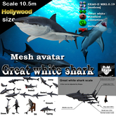 *R&Ms* Mesh great white (LL size)