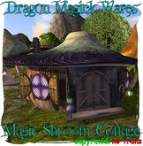 Dragon Magick Wares Magic Shroom Cottage with Fireplace