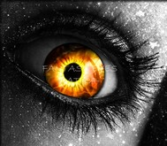 FLAMES IN YOUR EYES! fantasy eyes,avatar eyes - BE ONE OF A KIND.
