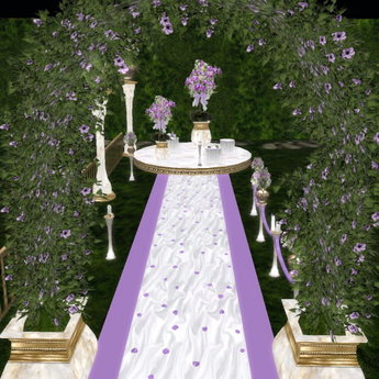 Second Life Marketplace Purple And White Wedding Decorations