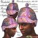 Wunderlich's Purple embroidered Rococo House-/Nightcap